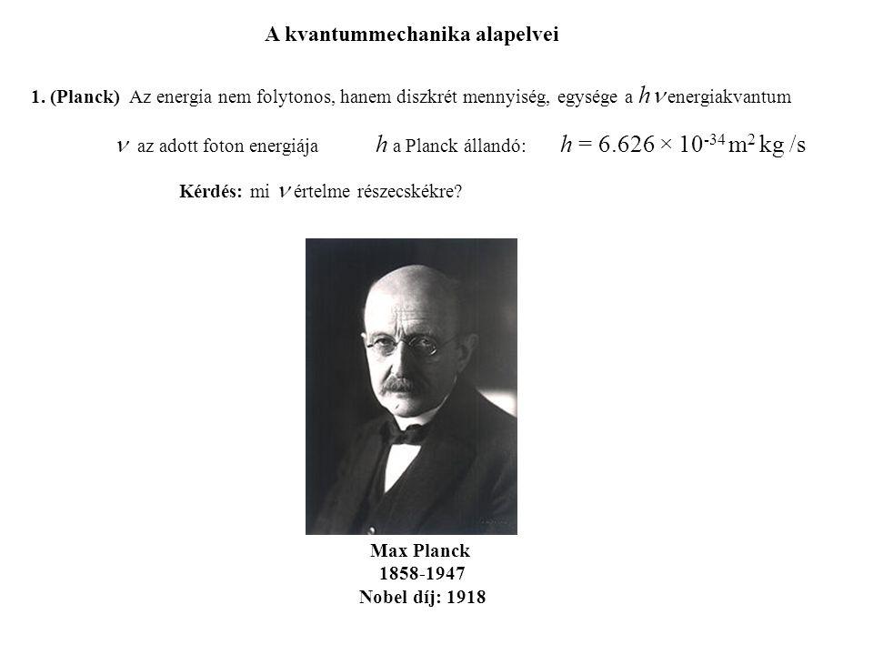 A kvantummechanika alapelvei 1.
