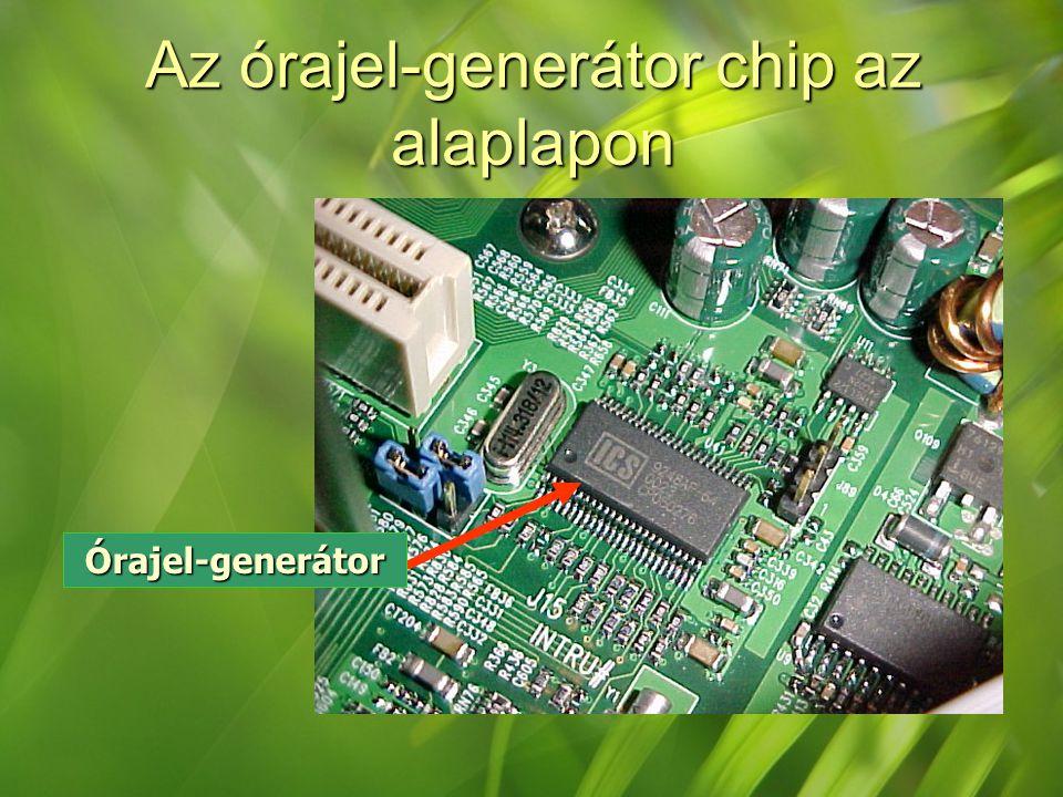 Az órajel-generátor chip az alaplapon Órajel-generátor