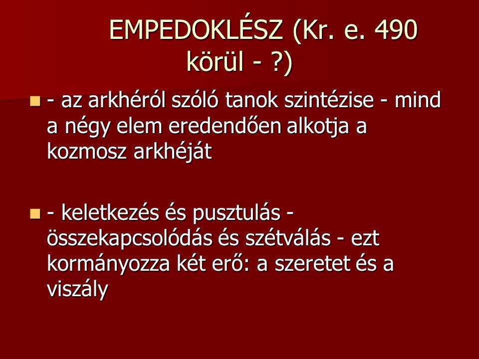 EMPEDOKLÉSZ (Kr.e.