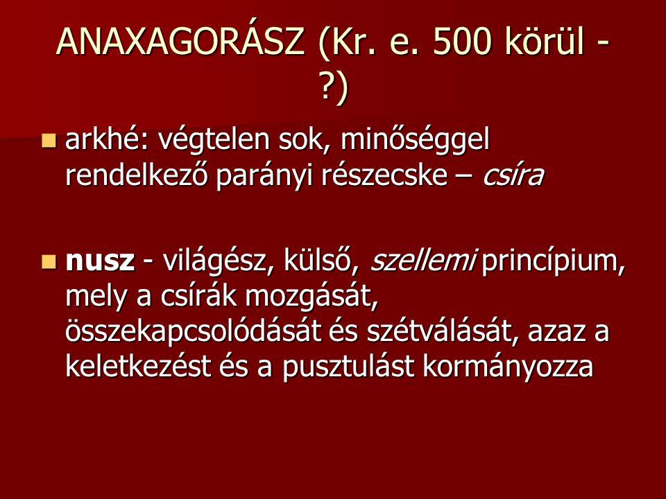 ANAXAGORÁSZ (Kr.e.