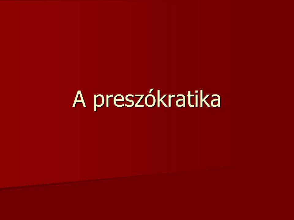 A preszókratika