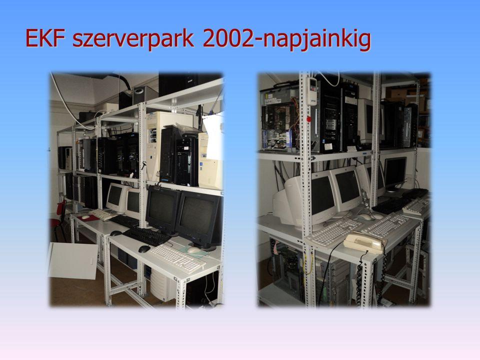 EKF szerverpark 2002-napjainkig