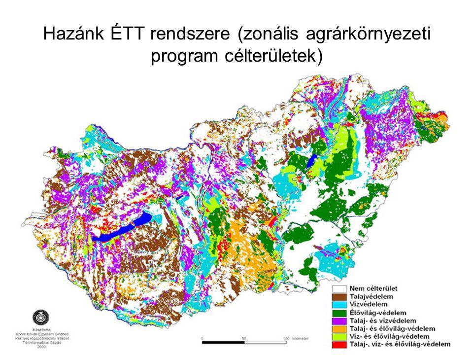 Hazánk ÉTT rendszere (zonális agrárkörnyezeti program célterületek)