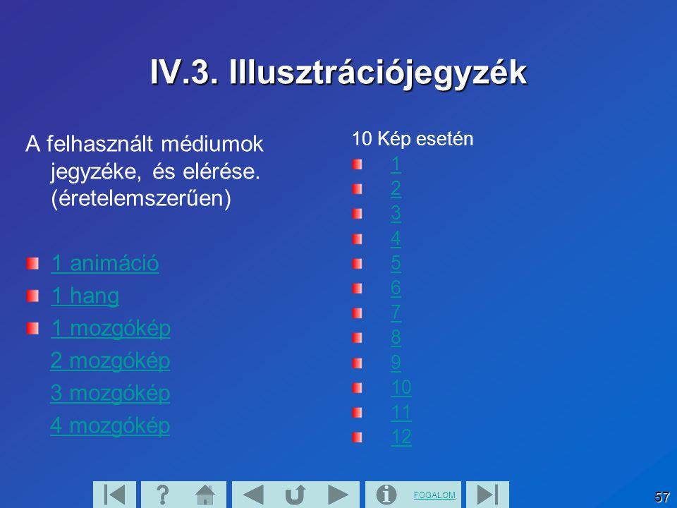 FOGALOM 57 IV.3. Illusztrációjegyzék A felhasznált médiumok jegyzéke, és elérése.