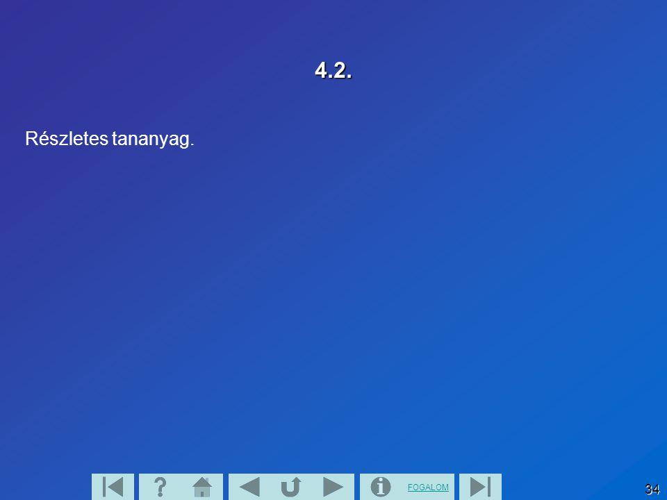 FOGALOM 33 4.1 Lap Részletes tananyag.