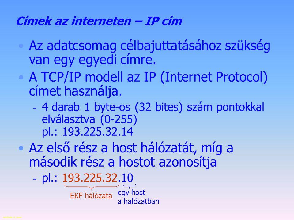 Készítette: B. László 2000 1960 1970 1980 1990 Az internet története 5. 1989. INTERNET lesz a hálózat neve, mivel az ARPANET támogatása megszűnik, az