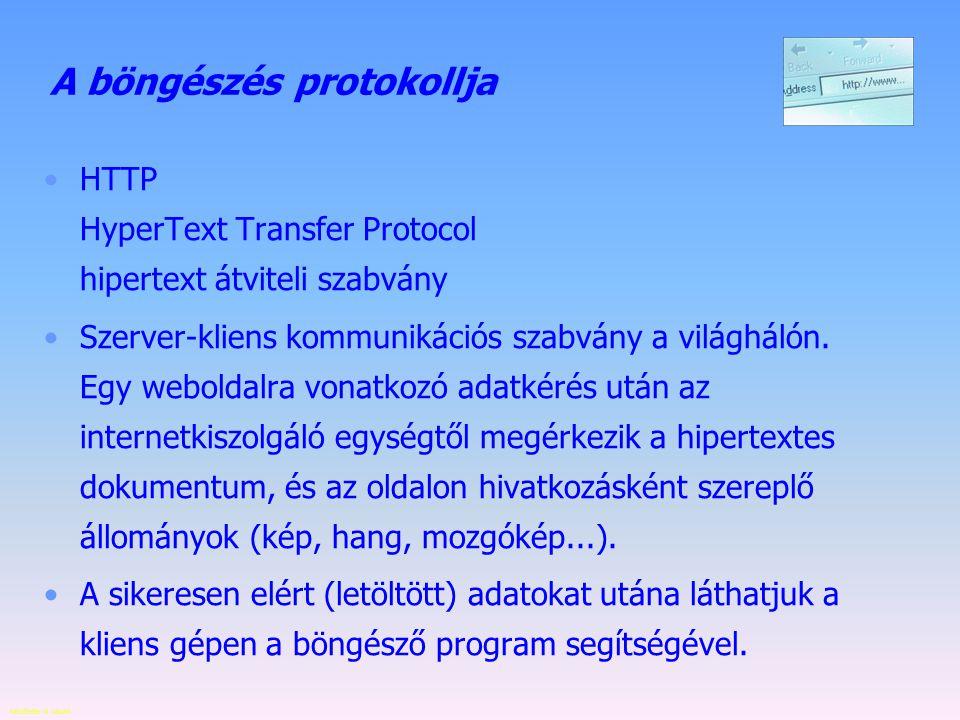 Készítette: B. László Szerverek speciális feladattal proxy szerver (helyettesítő kiszolgáló) - szoftver, illetve azt futtató kisegítő gép, amelyet a f