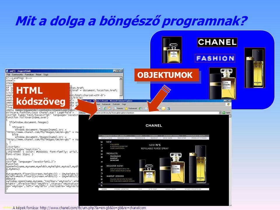 Készítette: B. László A hipertext (html) oldalakról html – hipertext markup language az oldal csak szöveget tartalmaz, ami esetleg táblázatban helyezk