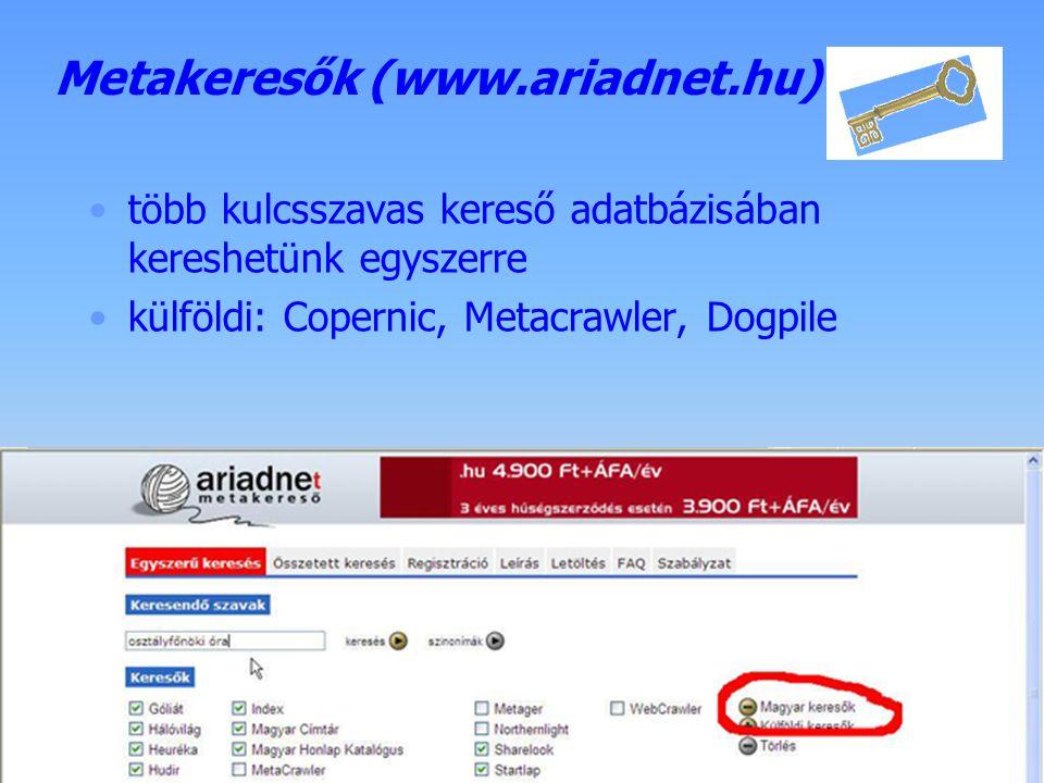 Készítette: B. László Kulcsszavas keresők - Google beállítás: keresés, felület nyelve... speciális keresés: - tág szűkítési és bővítési lehetőség - dá
