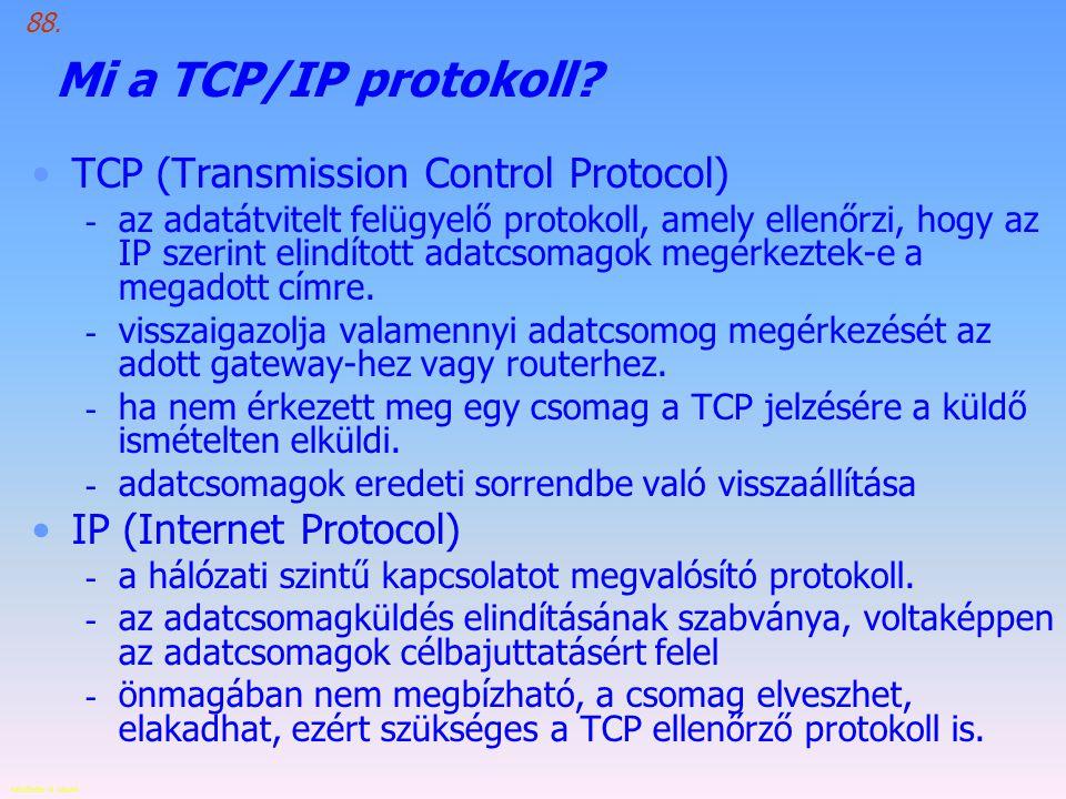 Készítette: B.László Mi a TCP/IP protokoll.