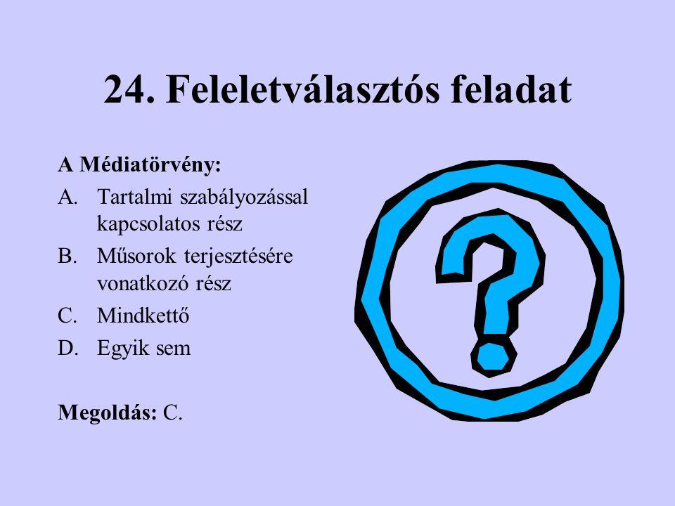 23. Értékelés Próbáld ki tudásodat. A következőkben 10 db tesztkérdést válaszolhatsz meg. Először felelet választásos kérdéseket, majd párosításos vég