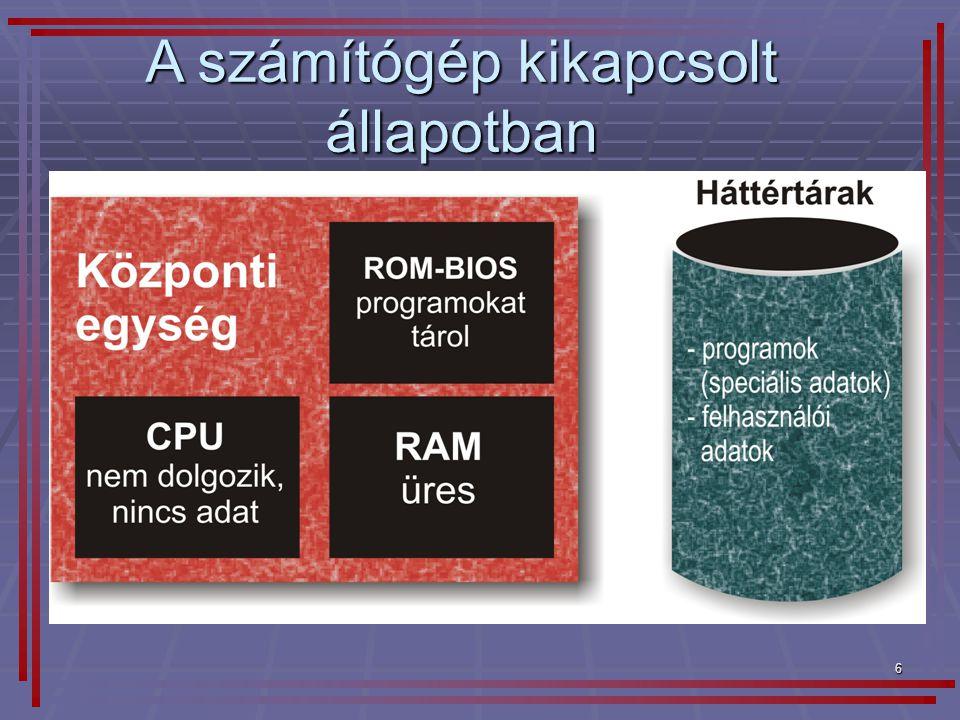 17 Windows XP operációs rendszer  többfelhasználós (multiuser)  többfeladatos (multitasking): egy időben több program futtatható  hálózati operációs rendszer  grafikus felhasználói felületű (GUI)