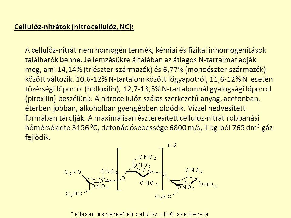 C-nitro vegyületek előállítása és legfontosabb származékaik Alifás C-nitro vegyületek előállítása és legfontosabb képviselői: Legfontosabb nitrálási eljárások: I.