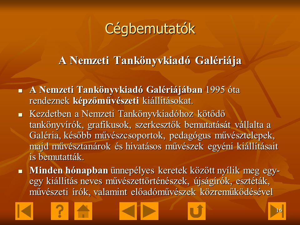 15 E-learning Letölthető oldalak Letölthető oldalak http://virtualvisits.ntk.hu/free/vv1_mintaold.html Mintaoldal: Mintaoldal: