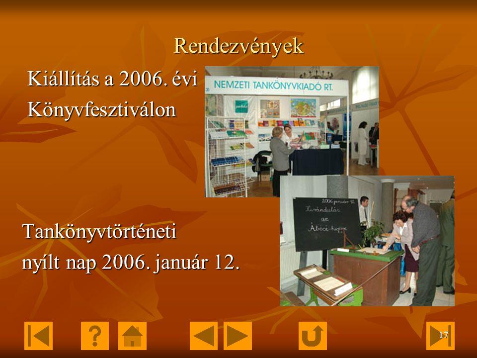 16 Cégbemutatók A Nemzeti Tankönyvkiadó Galériája A Nemzeti Tankönyvkiadó Galériájában 1995 óta rendeznek képzőművészeti kiállításokat.
