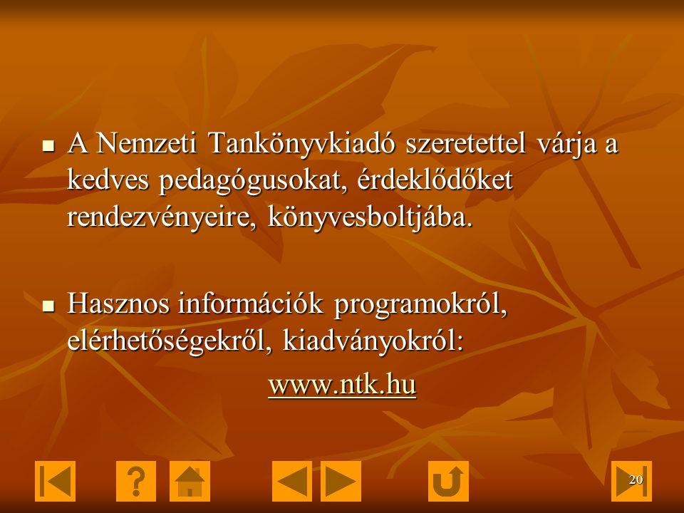 19 Rendezvények Finn-nap 2006. szeptember 29. Határon túli pedagógusok konferenciája 2006.