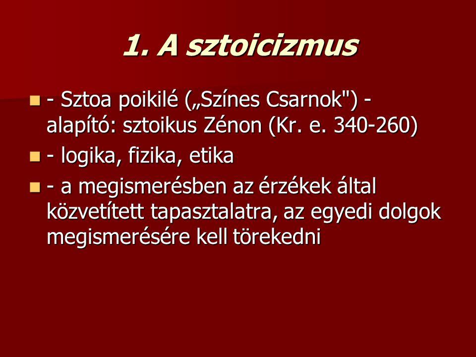 """1. A sztoicizmus - Sztoa poikilé (""""Színes Csarnok"""