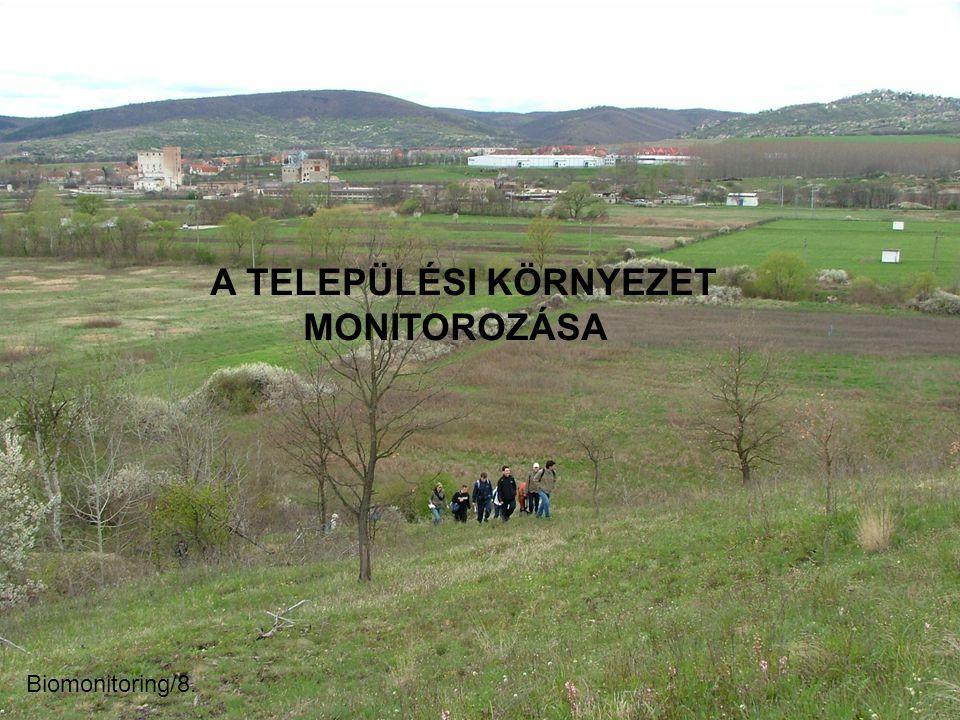 A TELEPÜLÉSI KÖRNYEZET MONITOROZÁSA Biomonitoring/8.