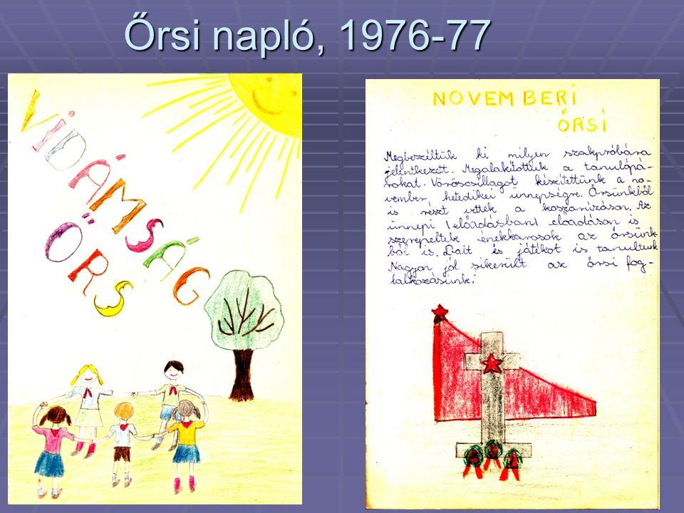 Őrsi napló, 1976-77
