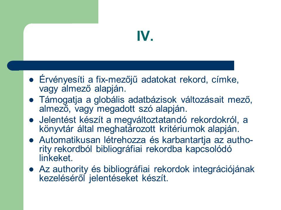 Katalogizálási lehetőségek I.