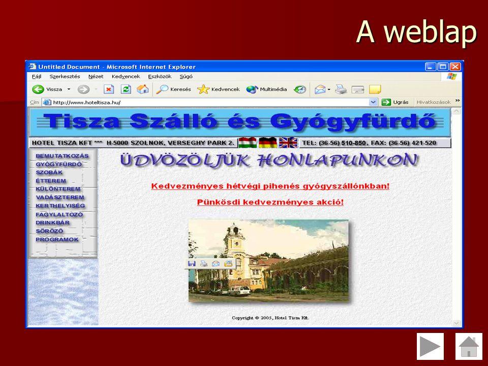 A weblap