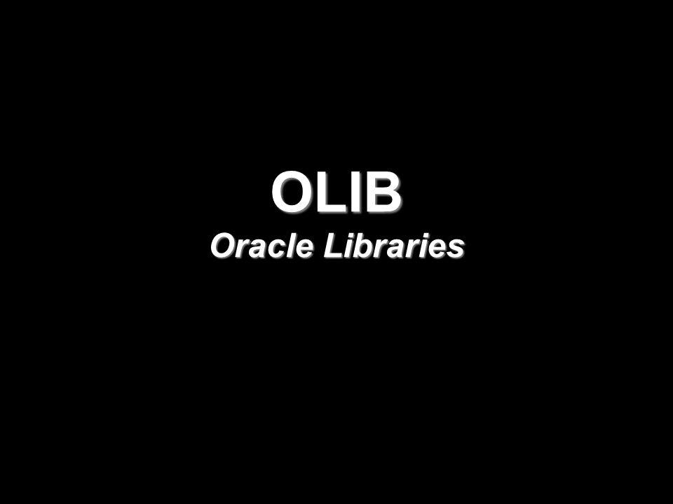 Információ- és dokumentumszolgáltatás Interneten A hagyományos könyvtári alkalmazások mellett az OLIB7 rugalmasságát bizonyítja a speciális alkalmazások gyakorisága hazánkban és külföldön is, főleg a kormányzati, orvosi, gyógyszerészeti, távközlési területen.