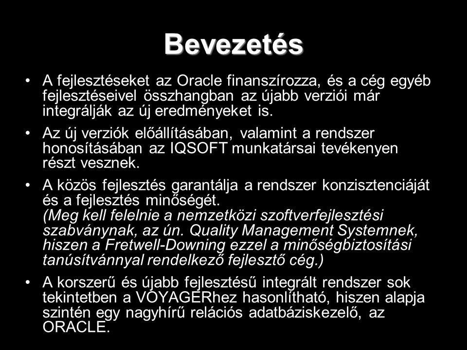 Bevezetés A fejlesztéseket az Oracle finanszírozza, és a cég egyéb fejlesztéseivel összhangban az újabb verziói már integrálják az új eredményeket is.