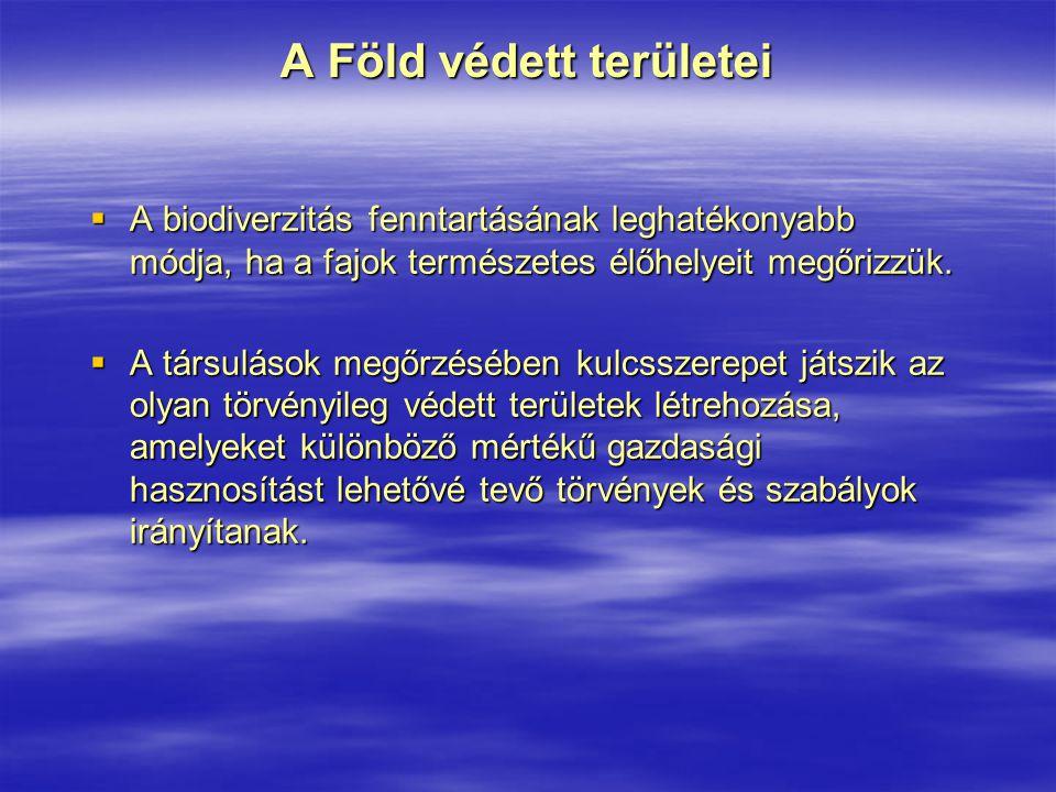 Hazánk pusztai jellegű nemzeti parkjai Körös-Maros Nemzeti Park Tompapusztai löszgyep  Az ország legnagyobb, összefüggő, zonálisnak tekintett löszgyepfoltja 21 ha- on a Nemzeti Park fokozottan védett területi egységét képezi  növényei: pusztai meténg; szennyes ínfű; koloncos legyezőfű; állatai: magyar tarsza; földikutya Tatársánci ősgyep  egy többezer éves földvár kis foltján maradt fenn; 1 ha  löszgyepfajok: csattogó szamóca; bókoló zsálya (hazánkban csak a Dél-Tiszántúlon fordul elő)