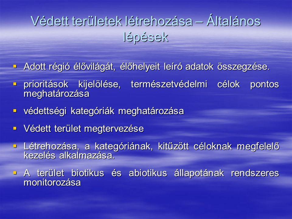 A természetvédelem szerepe és lehetőségei diverzitás   az élővilág faji változatossága nagyban befolyásolja az emberi faj létét;   a tudomány nem egészen 2 millió fajt ismer, de a legkisebb becslés is 10 millió fölötti értékkel számol;   különösen értékesnek ítélt természeti objektumok védetté nyilvánítására Magyarországon bárki javaslatot tehet diverzitás megőrzésére így nagyobb esély kínálkozik;