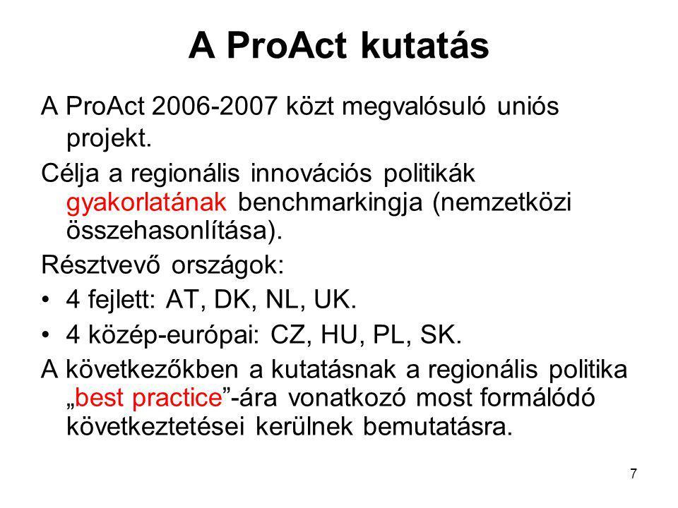 7 A ProAct kutatás A ProAct 2006-2007 közt megvalósuló uniós projekt.
