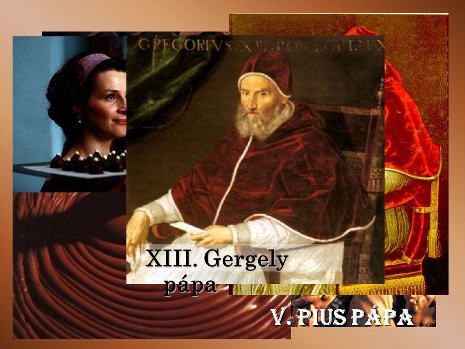 V. Pius pápa XIII. Gergely pápa