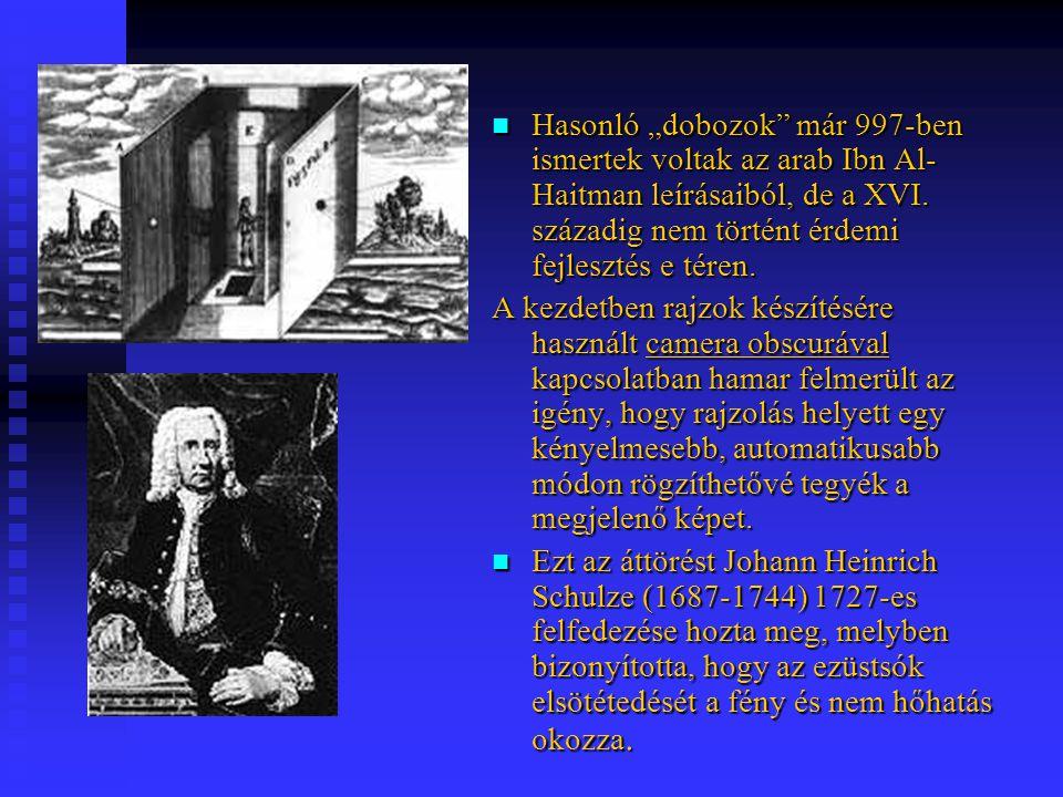 Kihasználva Schulze bizonyítását, Nicéphore Niépce (1765-1833) továbbfejlesztette az eljárást és litográfiák másolásához használta a fényérzékeny vegyszert.