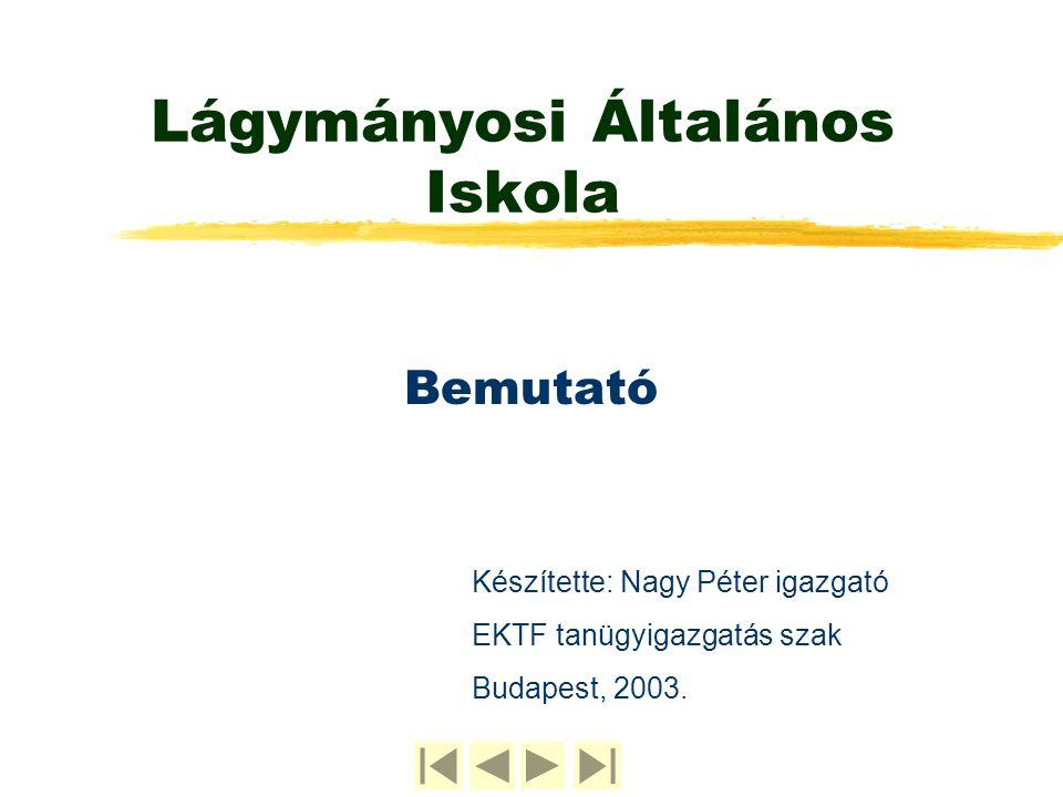 Lágymányosi Általános Iskola Bemutató Készítette: Nagy Péter igazgató EKTF tanügyigazgatás szak Budapest, 2003.