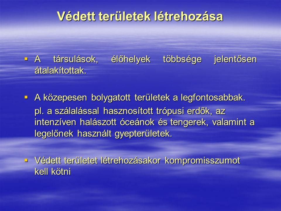 Hazánk vizes jellegű nemzeti parkjai Duna-Ipoly Nemzeti Park  1997-ben alapították; törzskönyvi száma: 283//NP/97  területe 60314,1 ha, amelyből 16119 ha áll fokozott védelem alatt  területe a Pilis- a Visegrádi- és a Börzsöny-hegységeket, az Ipoly-völgy Hont és Balassagyarmat közötti szakaszát és a Szentendrei-sziget egyes területeit öleli át  Dunakanyar összekötő kapocsként szerepel a Dunántúli- középhegység és az Északi-középhegység flórája között.