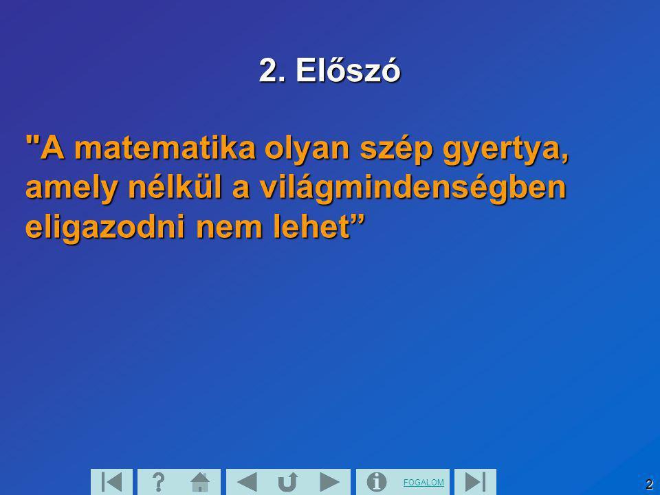 FOGALOM 2 2. Előszó