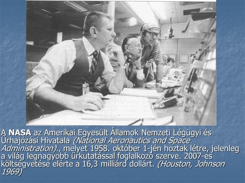 Létrehozásának előzményei: Létrehozásának előzményei: A NASA bizonyos értelemben a hidegháború és az ezen belül kialakuló űrverseny szülötte volt.