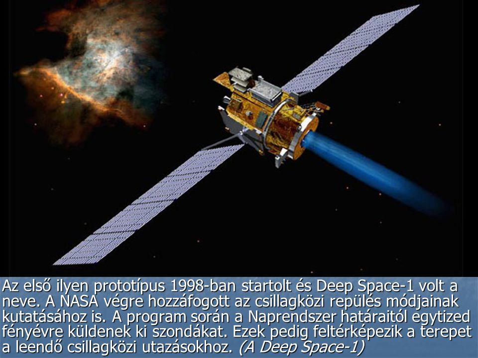 Az első ilyen prototípus 1998-ban startolt és Deep Space-1 volt a neve.