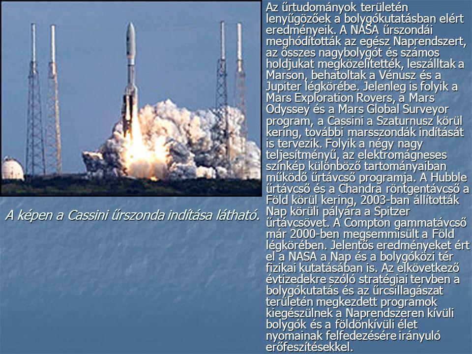 Hordozóeszközök: Hordozóeszközök: A hordozóeszközök területén a hatvanas években kifejlesztették a holdutazásra alkalmas Saturn-5 óriásrakétát, a hetvenes években pedig kidolgozták a többször felhasználható űrbeli szállítórendszert, az űrrepülőgépet, amely a korábbiakhoz képest forradalmian új megoldást jelentett.