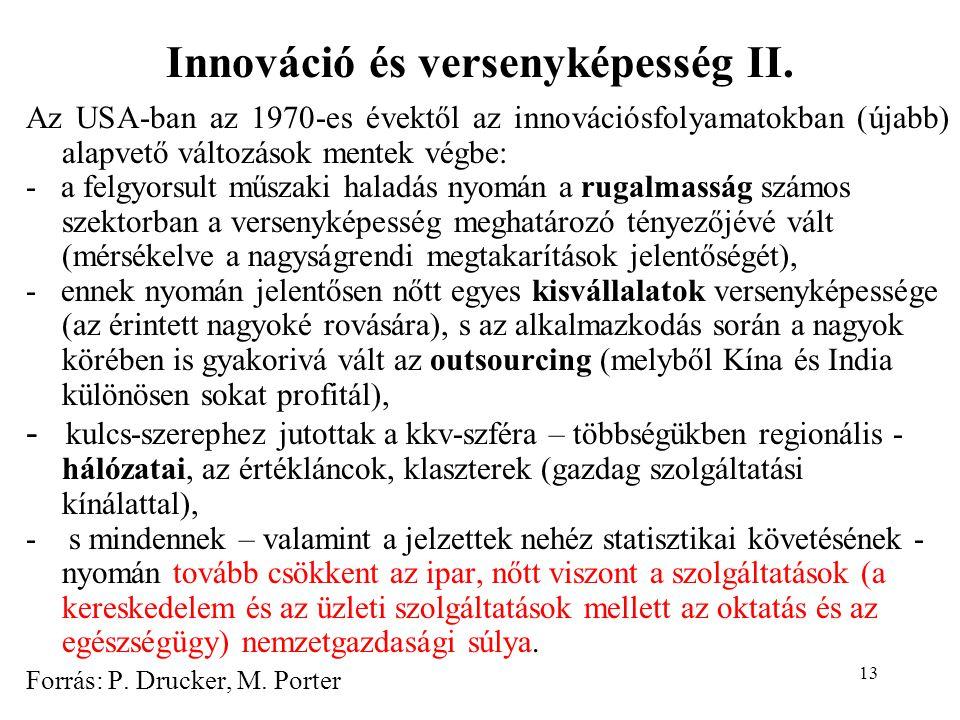 13 Innováció és versenyképesség II.