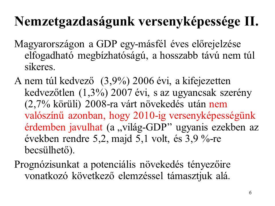6 Nemzetgazdaságunk versenyképessége II.