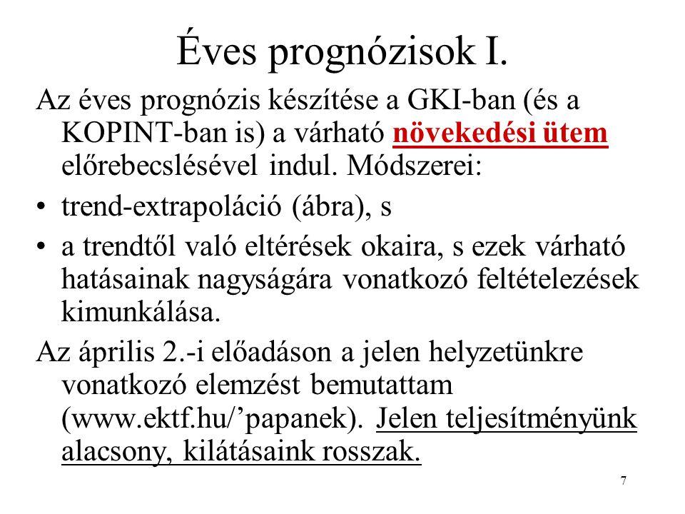 7 Éves prognózisok I.