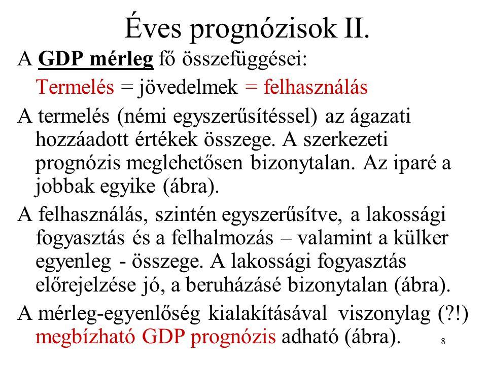 19 Összefoglalás A gazdasági döntések gyakran igényelnek megbízható előrejelzéseket.