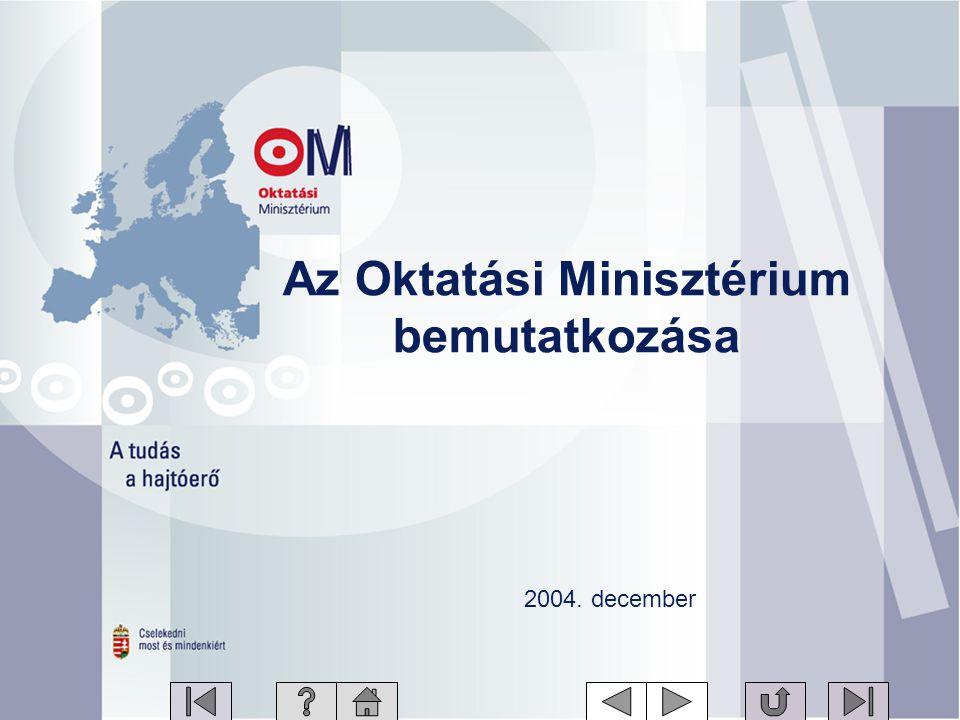 Az Oktatási Minisztérium bemutatkozása 2004. december