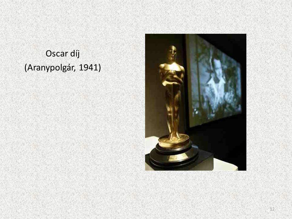 Oscar díj (Aranypolgár, 1941) 12