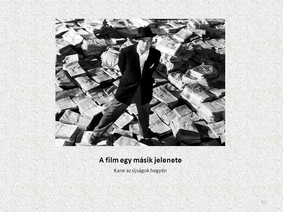 A film egy másik jelenete Kane az újságok hegyén 23