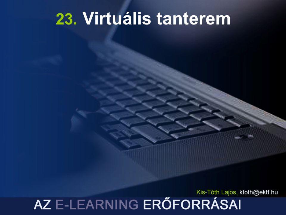 23. Virtuális tanterem