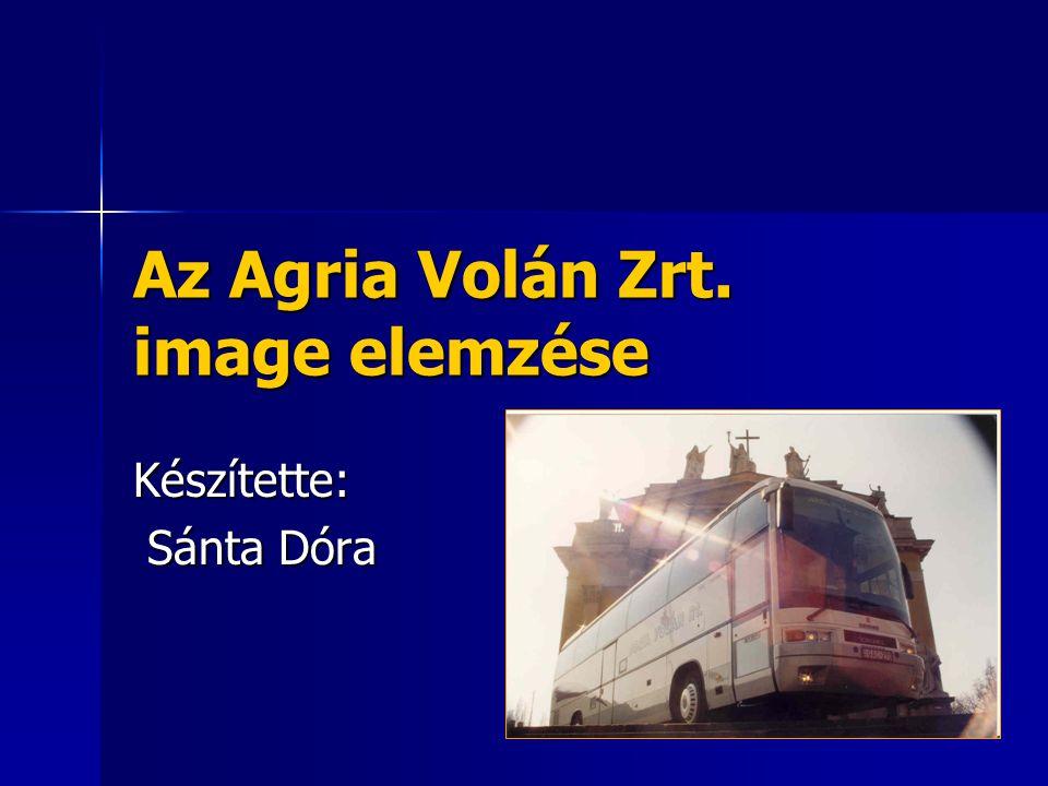 Az Agria Volán Zrt. image elemzése Készítette: Sánta Dóra Sánta Dóra