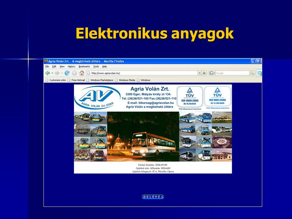 Elektronikus anyagok
