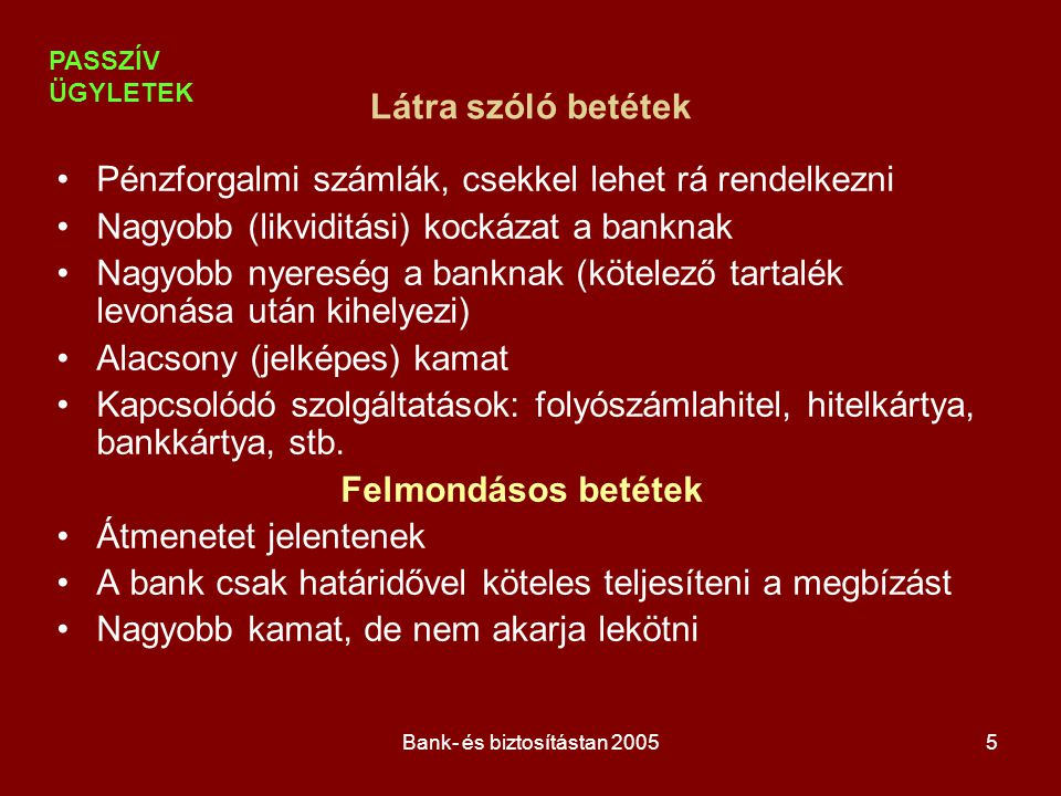 Bank- és biztosítástan 20056 Kamatfogalmak Névleges (kinyilvánított) kamatláb: a tőke után egy évre fizetett kamatláb, függetlenül a kamatszámítás gyakoriságától.