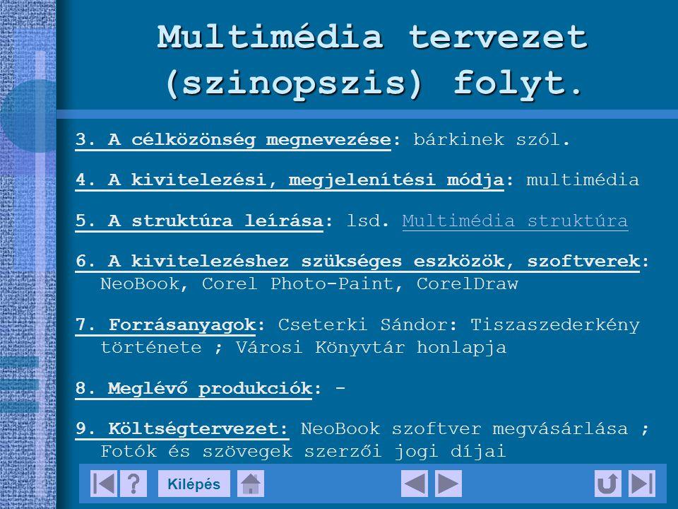 Kilépés Multimédia tervezet (szinopszis) Produkció címe: Tiszaújváros.